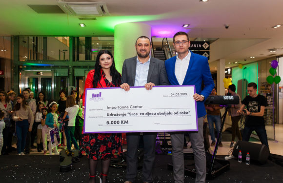 Importanne centar proslavio svoj deveti rođendan i donirao 5.000 KM udruženju